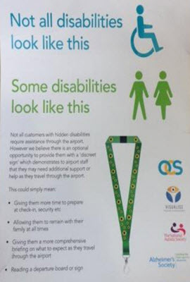 Dementia friendly lanyard