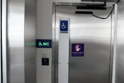 Dangerous Accessible Toilet Door