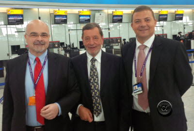 Left to right: Roberto Castiglioni, David Blunkett MP, Mark Hicks