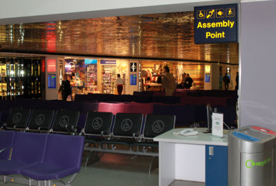 PRM waiting lounge at Manchester Terminal 1