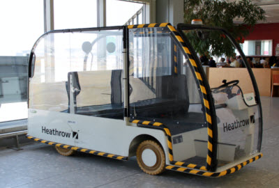 Heathrow buggy for passengers with reduced mobility