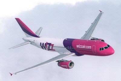 Wizz Air aircraft in-flight