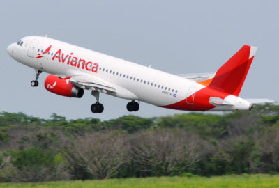 Avianca Airbus 320 on take-off