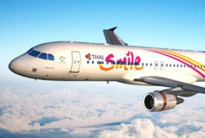 Thai Smile Airbus A320 aircraft in flight