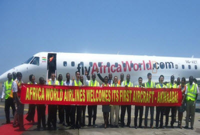 Africa World Airlines airplane