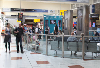 PRM waiting lounge airside at Gatwick airport