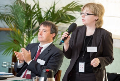 Lucy Anderson MEP with Jean Louis Colson, Head of the Passenger Rights Unit at the EU Commission