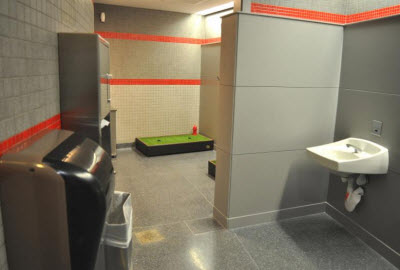 Chicago O'Hare airport indoor relief area