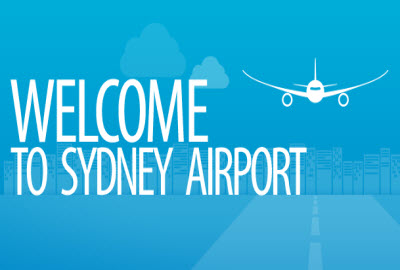 Welcome to Sydney Airport banner
