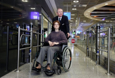 Wheelchair assistance at Frankfurt airport