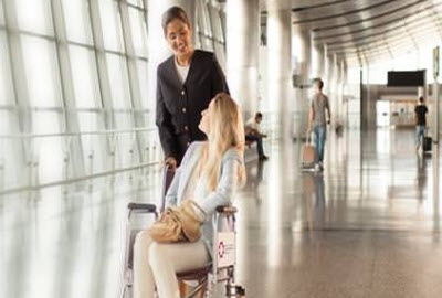 Wheelchair service at Doha airport