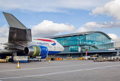 BA plane at Heathrow T5