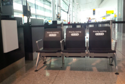 Priority seats at gate - Heathrow Terminal 2