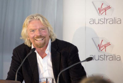 Sir Richard Branson at a Virgin Australia event