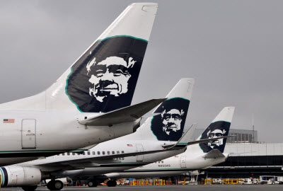 Alaska Airlines Boeing 737 airplanes